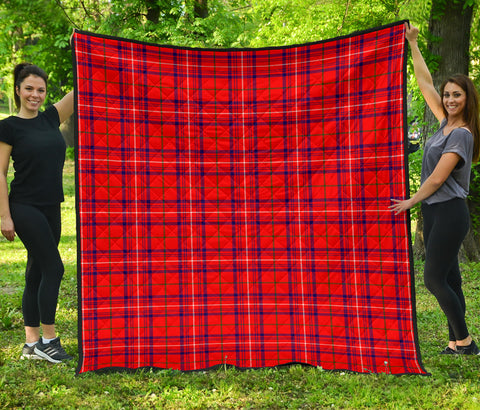 Rose Modern Tartan Premium Quilt | Scottishclans.co