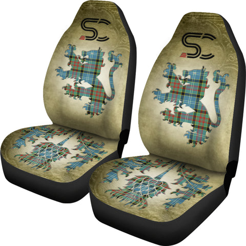 Paisley District Tartan Car Seat Cover Lion and Thistle Special Style TH8