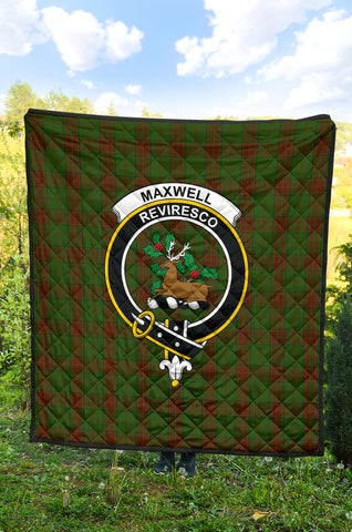 Image of Maxwell Hunting Tartan Clan Badge Premium Quilt TH8