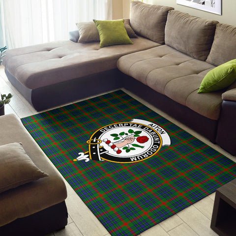 Image of Aiton Clan Tartan Area Rug, Scottish Clans Tartan Area Rug, Scottish Rug, Scotland Area Rug