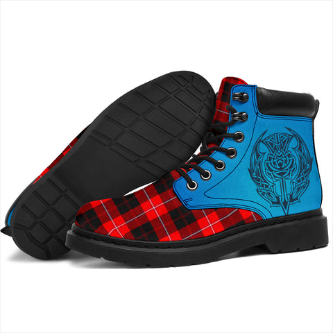 Image of Cunningham Modern Tartan All-Season Boots - Celtic Thistle TH8