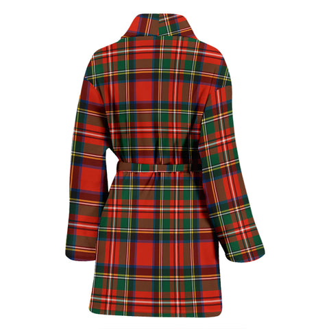 Stewart Royal Modern Tartan Womens Bathrobe - BN
