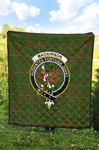 Image of MacKinnon Hunting Modern Tartan Clan Badge Premium Quilt TH8