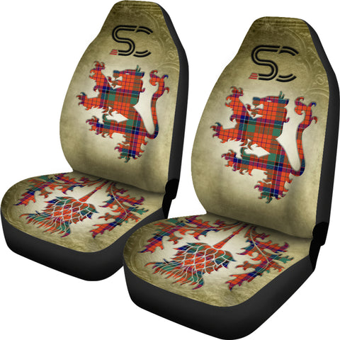 Nicolson Ancient Tartan Car Seat Cover Lion and Thistle Special Style TH8