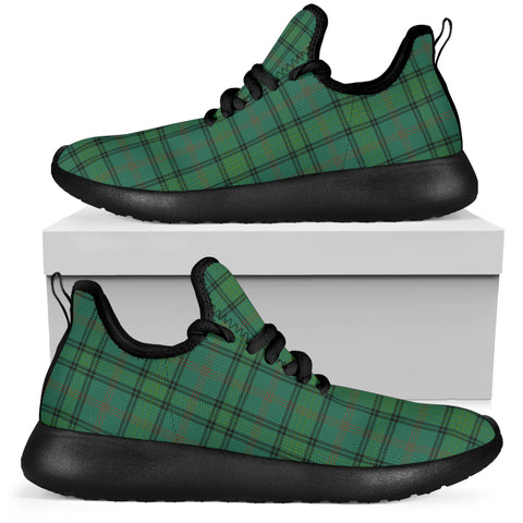 Tartan Mesh Knit Sneakers - Ross Hunting Ancient