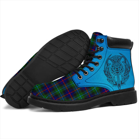 Campbell Of Cawdor Modern Tartan All-Season Boots - Celtic Thistle TH8