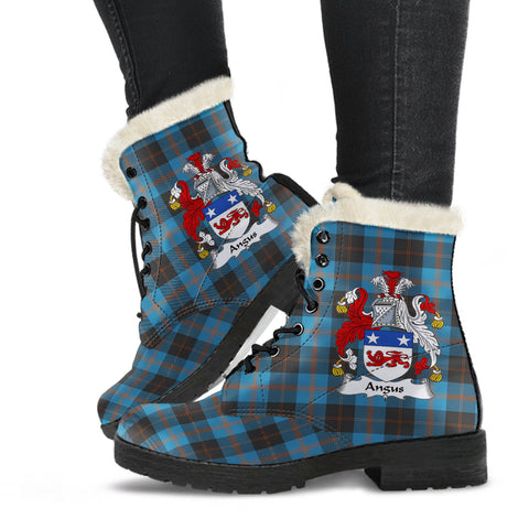 Image of Angus Ancient  Tartan Faux Fur Leather Boots
