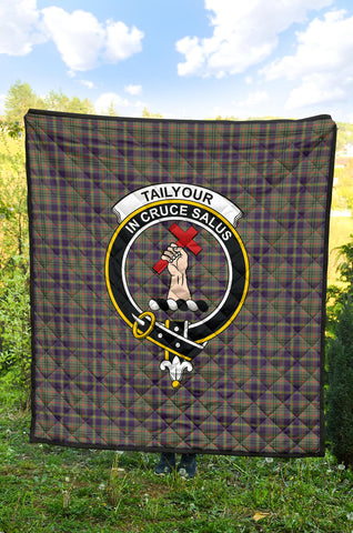 Image of Taylor Weathered Tartan Clan Badge Premium Quilt TH8