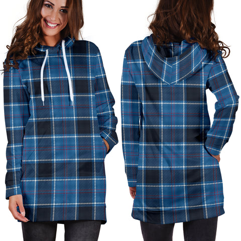US Navy Tartan Hoodie Dress HJ4