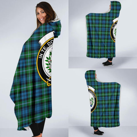 Image of Lyon  Clans Tartan Hooded Blanket - BN