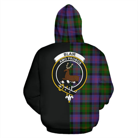 Blair Modern Tartan Hoodie Half Of Me TH8