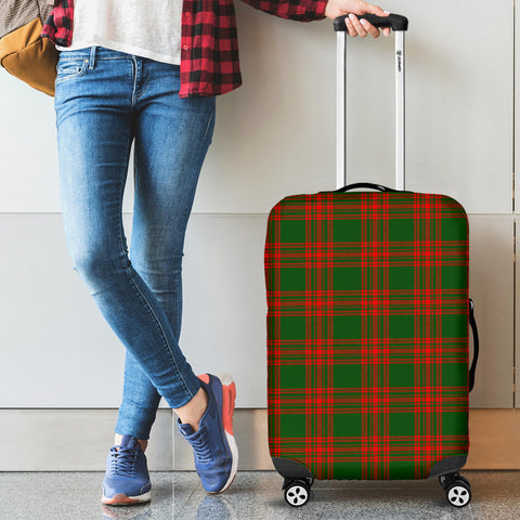 Image of Menzies Green Modern Tartan Luggage Cover HJ4