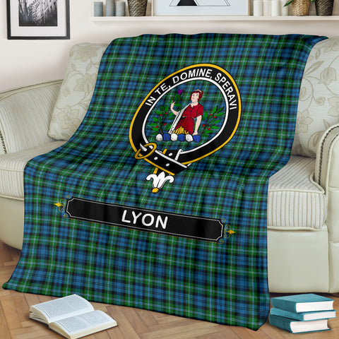 Lyon Crest Tartan Blanket | Tartan Home Decor | Scottish Clan