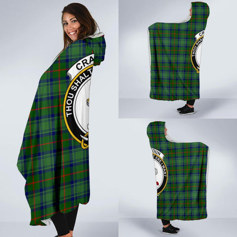 Image of Cranstoun Clans Tartan Hooded Blanket - BN