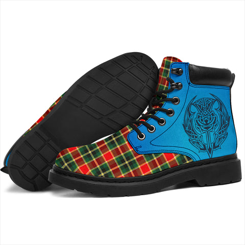 Image of Maclachlan Hunting Modern Tartan All-Season Boots - Celtic Thistle TH8