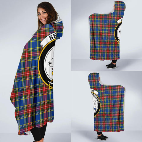 Image of Bethune Clans Tartan Hooded Blanket - BN