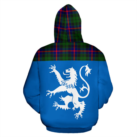 Tartan All Over Hoodie - Lion Morrison Modern - BN