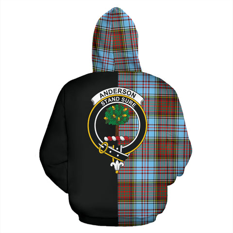 Anderson Ancient Tartan Hoodie Half Of Me TH8