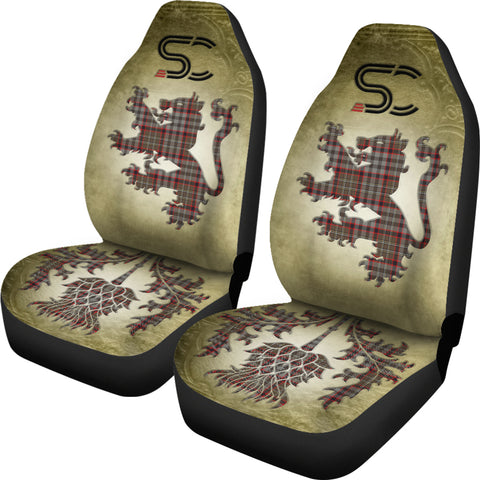 Nicolson Hunting Weathered Tartan Car Seat Cover Lion and Thistle Special Style TH8