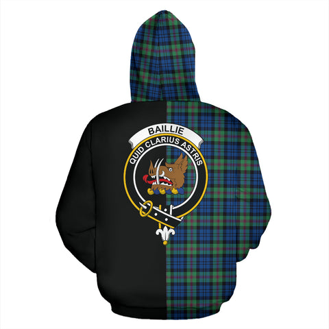 Baird Ancient Tartan Hoodie Half Of Me TH8