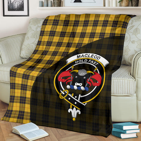 Image of MacLeod of Lewis Ancient Tartan Clan Badge Premium Blanket Wave Style TH8