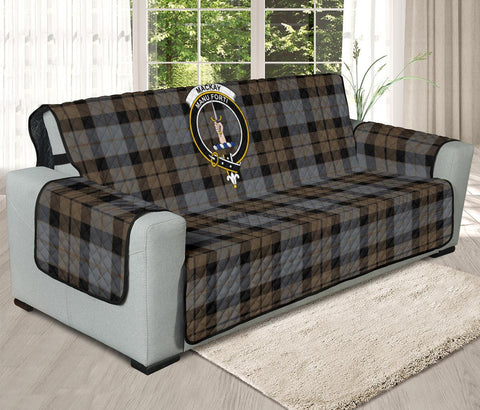 MacKay Weathered Tartan Clan Badge Oversized Sofa Protector K7