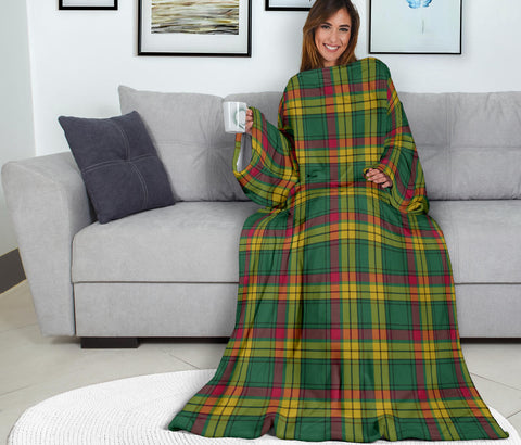 Image of MacMillan Old Ancient Tartan Clans Sleeve Blanket K6