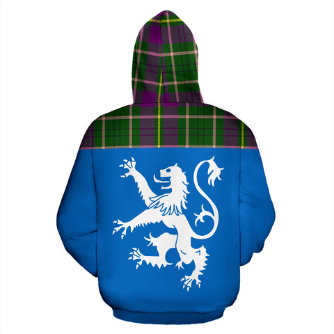 Tartan All Over Hoodie - Lion Taylor