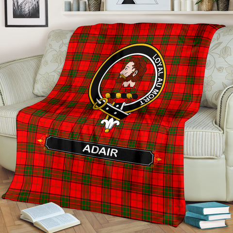 Adair Crest Tartan Blanket | Tartan Home Decor | Scottish Clan
