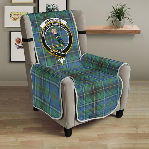 Image of MacInnes Ancient Tartan Clan Badge Sofa Protector K7