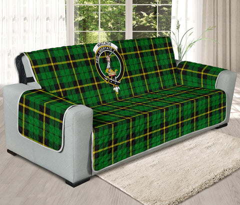 Wallace Hunting Green Tartan Clan Badge Oversized Sofa Protector K7