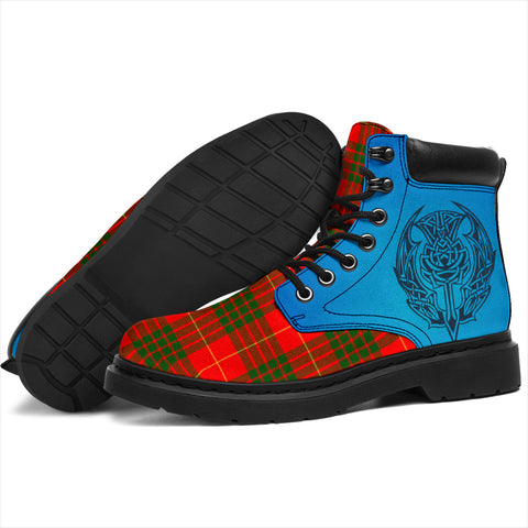 Cameron Modern Tartan All-Season Boots - Celtic Thistle TH8