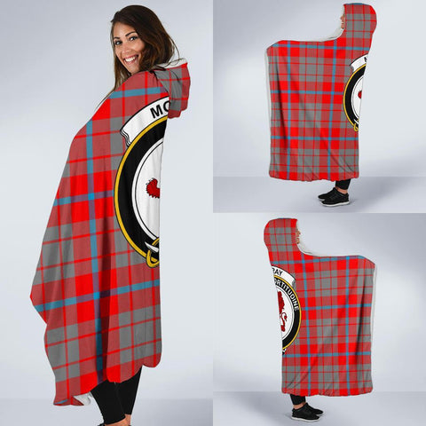 Image of Moubray Clans Tartan Hooded Blanket - BN