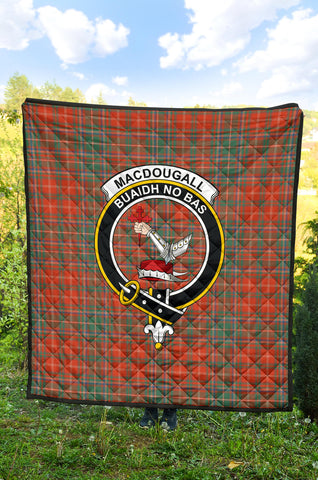 MacDougall Ancient Tartan Clan Badge Premium Quilt TH8
