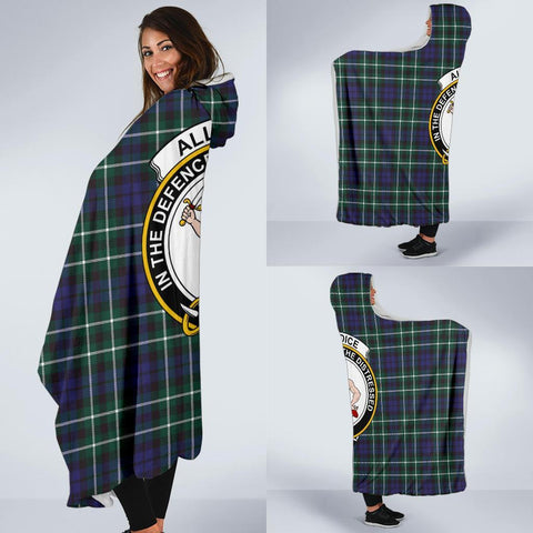 Allardice Clans Tartan Hooded Blanket - BN