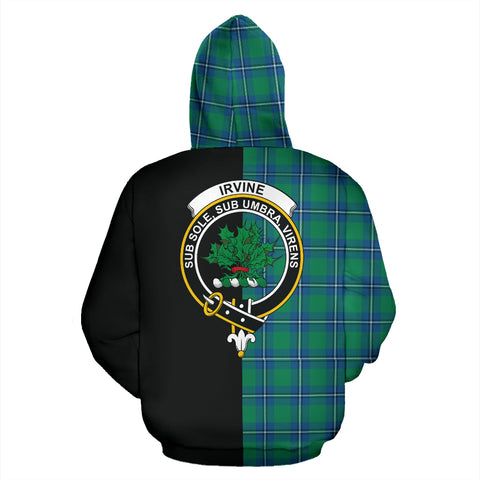 Irvine Ancient Tartan Hoodie Half Of Me TH8