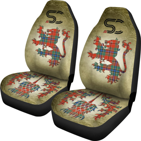 MacLean of Duart Ancient Tartan Car Seat Cover Lion and Thistle Special Style TH8