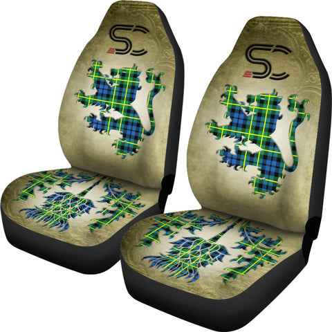 Campbell of Breadalbane Ancient Tartan Car Seat Cover Lion and Thistle Special Style TH8