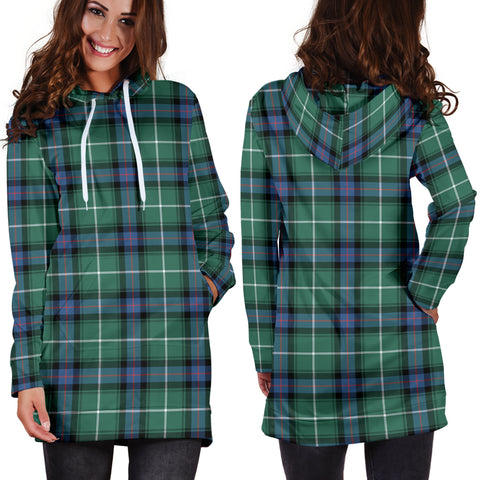 MacDonald of the Isles Hunting Ancient Tartan Hoodie Dress HJ4