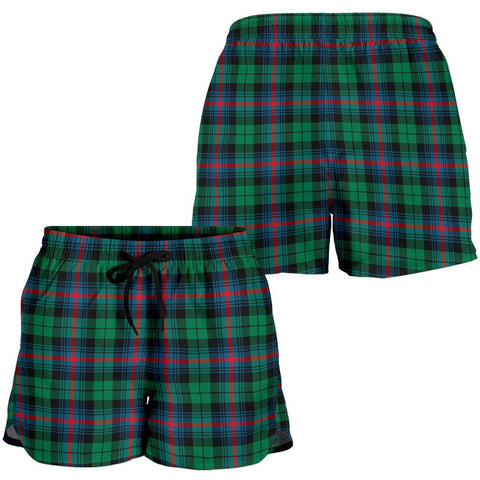 Urquhart Broad Red Ancient Tartan Shorts For Women