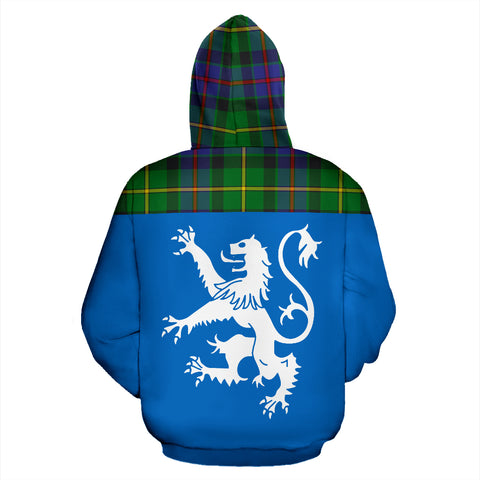 Image of Tartan All Over Hoodie - Lion Tait Modern - BN