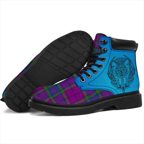 Wardlaw Modern Tartan All-Season Boots - Celtic Thistle TH8