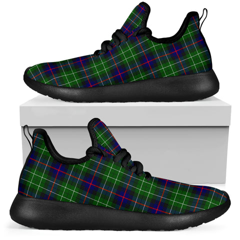 Image of Tartan Mesh Knit Sneakers - Leslie Hunting