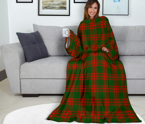 Image of Menzies Green Modern Tartan Clans Sleeve Blanket K6