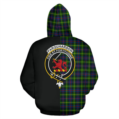 Image of Farquharson Modern Tartan Hoodie Half Of Me TH8