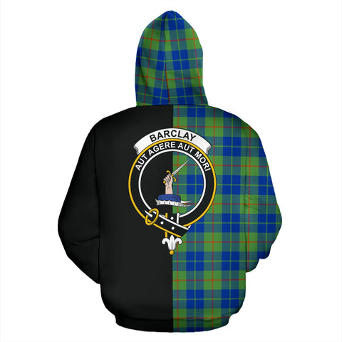 Barclay Hunting Ancient Tartan Hoodie Half Of Me TH8