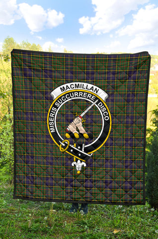 MacMillan Hunting Modern Tartan Clan Badge Premium Quilt TH8