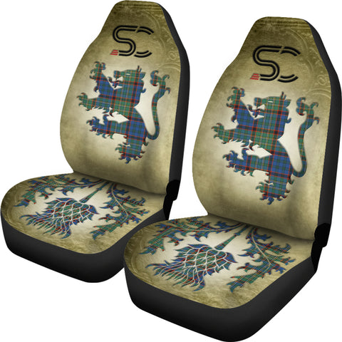 Nicolson Hunting Ancient Tartan Car Seat Cover Lion and Thistle Special Style TH8