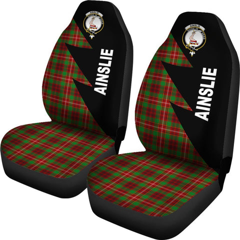 Ainslie Clans Tartan Car Seat Covers - Flash Style - BN