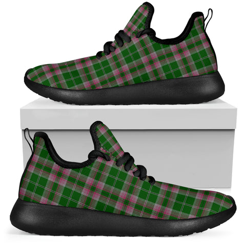 Tartan Mesh Knit Sneakers - Gray Hunting